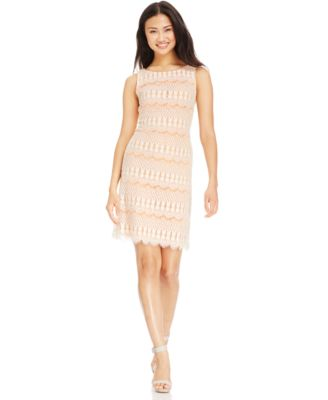 Women's Jessica Howard Embellished Lace Sheath Dress