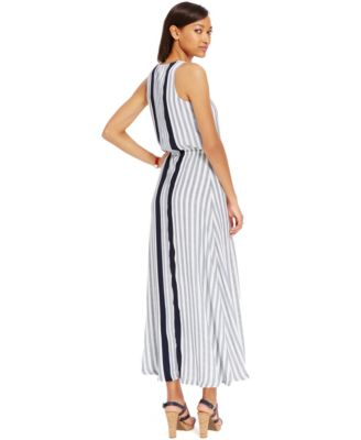Tommy Hilfiger Striped A-Line Maxi Dress - Dresses - Women - Macy's