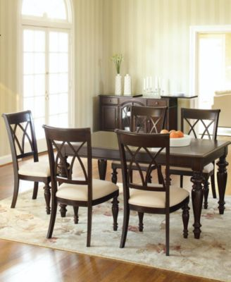 Bradford Piece Dining Room Furniture Set Table   Side Chairs - Macys dining room sets