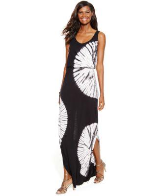 INC International Concepts Tie-Dye Maxi Dress - Dresses - Women ...
