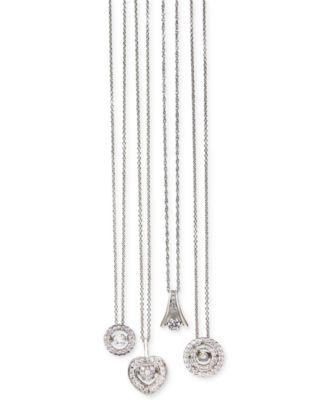 Twinkling diamond star diamond double circle pendant necklace in twinkling diamond star diamond double circle pendant necklace in 14k white gold 3 aloadofball Images