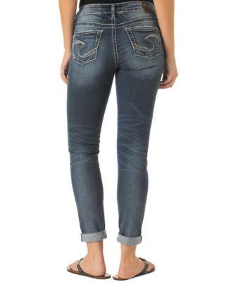 Silver Jeans Slim-Fit Boyfriend Jeans, Indigo Wash - Jeans ...