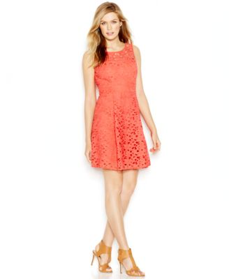 Jessica Simpson Lace A-Line Dress - Dresses - Women - Macy's