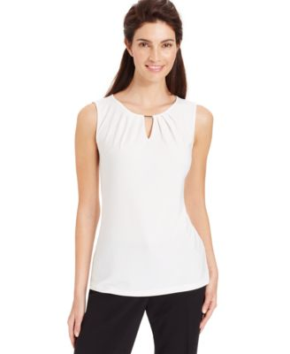 Laundry by Shelli Segal Sleeveless Printed Blouse - Wear to Work ...