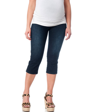 Fade To Blue Maternity Secret Fit Belly® Skinny Crop Jeans, Dark ...
