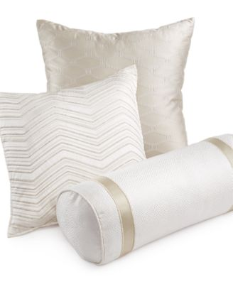 hotel collection woven texture decorative pillow collection