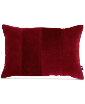 "Tommy Hilfiger Pieced Corduroy 12"" x 18"" Decorative Pillow"