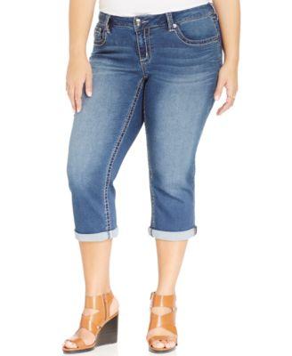 Seven7 Jeans Plus Size Cropped Jeans, Colt Wash - Jeans - Plus ...