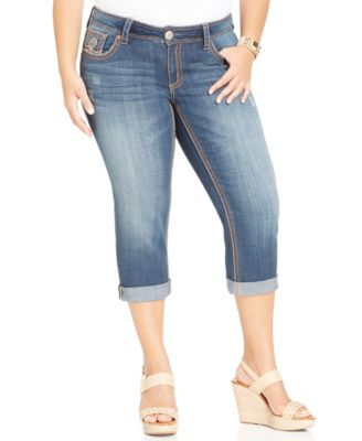 Seven7 Jeans Plus Size Cropped Jeans, Select Wash - Jeans - Plus ...