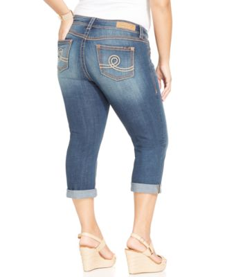 Seven7 Jeans Plus Size Cropped Jeans, Select Wash - Jeans - Plus ...