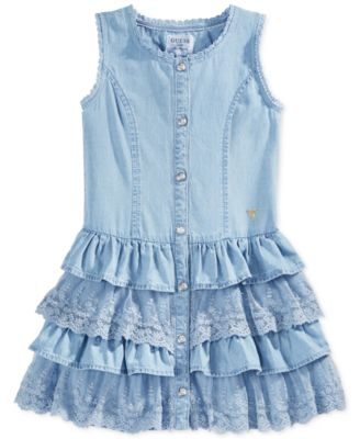 GUESS Little Girls&39 Denim Dress - Kids - Macy&39s