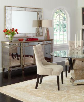 marais dining room furniture 5 piece set 60 mirrored