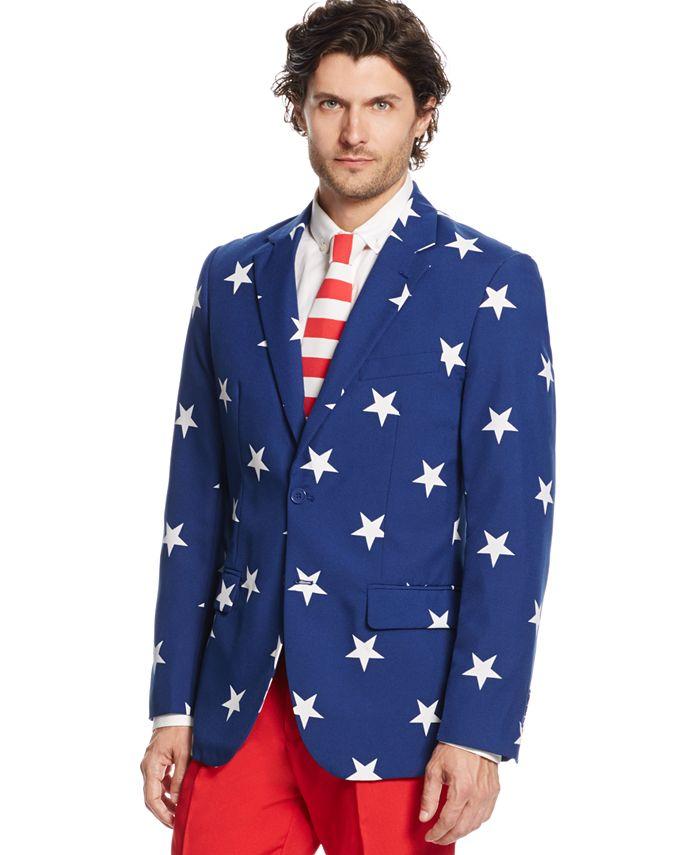 OppoSuits - Stars & Stripes Slim-Fit Suit