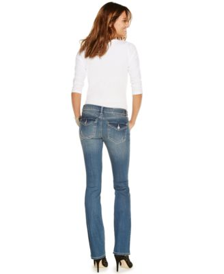 INC International Concepts Curvy-Fit Bootcut Jeans, Dashing Wash ...