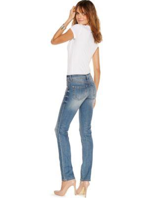 INC International Concepts Curvy-Fit Jeans, Monday Wash - Women's ...