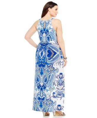 Aqua concept maxi dress