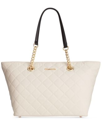 Calvin Klein Dressy Nylon Quilted Tote - Handbags & Accessories ... : calvin klein quilted handbag - Adamdwight.com