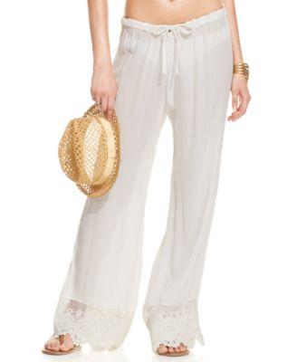 coco rave lacetrim cover up pants