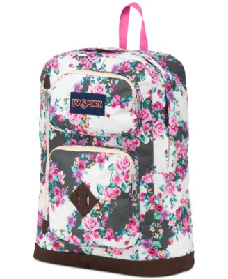 Jansport Austin Backpack, Multi Grey Floral Flourish - Backpacks ...