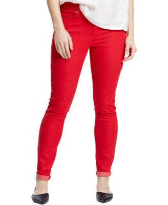 Violeta by Mango Plus Size Moto Skinny Jeans Colored Wash - Jeans