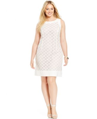 Jessica howard plus size lace dress