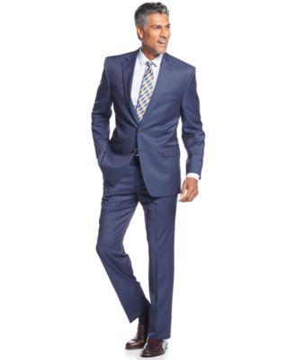 Lauren Ralph Lauren Light Navy Solid Classic-Fit Suit - Suits ...