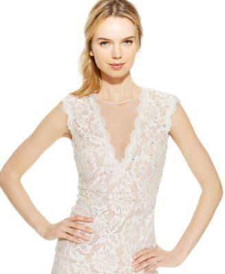 Betsy & Adam Embellished Lace Sheath Dress - Dresses - Women - Macy's
