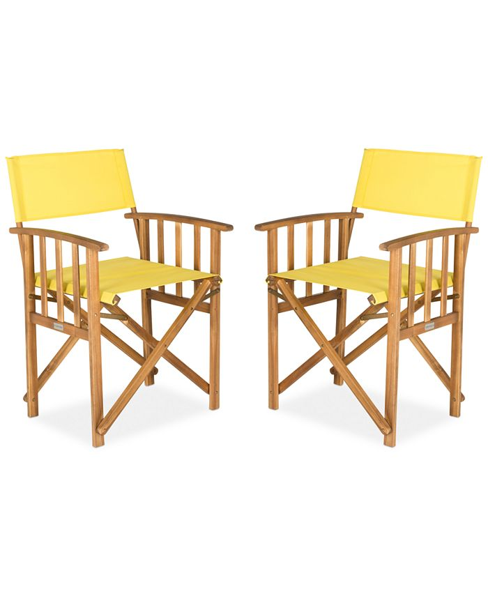 Safavieh - Set of 2 Director Chairs, Direct Ship