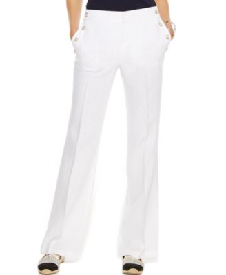 INC International Concepts Petite Wide-Leg Linen Pants - Sweaters ...