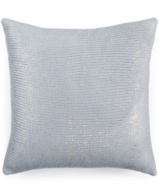 "Bar III Metallic Print 16"" Square Decorative Pillow"