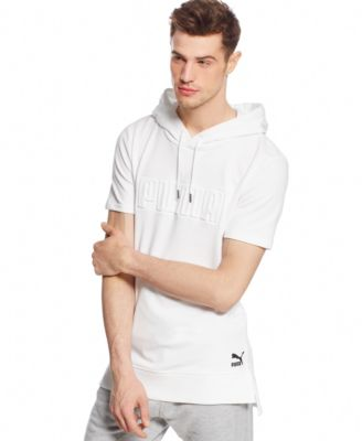 Puma Seasonal Short-Sleeve Hoodie - Hoodies & Sweatshirts - Men ...