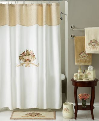 Shower Curtains bathroom ensembles shower curtains : Avanti Bath Accessories, Rosefan Shower Curtain - Bathroom ...