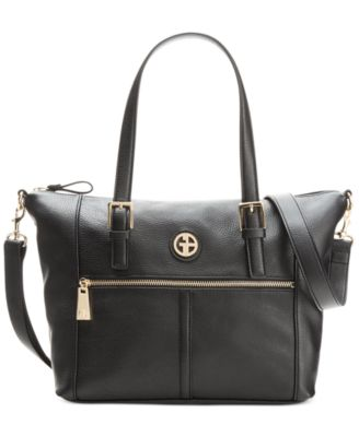 Giani Bernini Pebble Leather Zipper Soft Satchel - Handbags ...