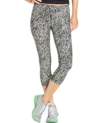 Calvin Klein Performance Printed Capri Leggings - Pants & Capris ...