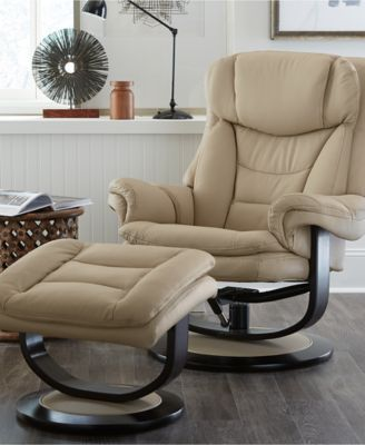 Ren Leather Recliner with Ottoman & Ren Leather Recliner with Ottoman - Furniture - Macyu0027s islam-shia.org