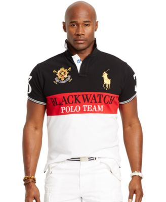 41884af8 Polo Ralph Lauren Big and Tall Black Watch Classic-Fit Color-Blocked Polo  Shirt