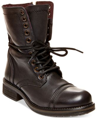 Steve Madden Troopa 2.0 Combat Boots - Boots - Shoes - Macy\'s