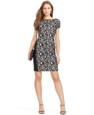 Lauren Ralph Lace Sheath Dress