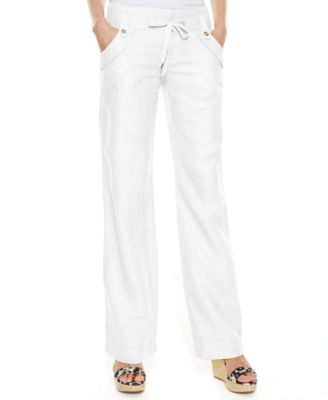 INC International Concepts Petite Wide-Leg Linen Pants - Sweaters ...