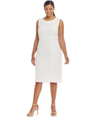 Kasper Plus Size Textured Sheath Dress - Wear to Work - Women - Macy\'s