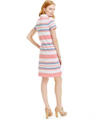 Tommy Hilfiger Striped Polo Shirt Dress - Dresses - Women - Macy's