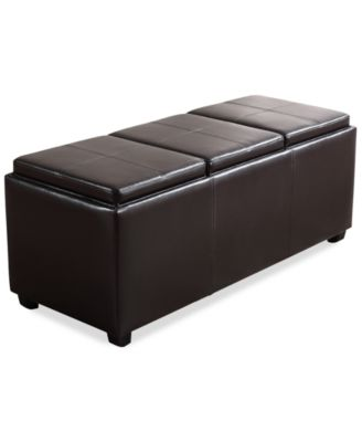 Avalon Faux Leather Storage Ottoman with 3 Trays, Direct Ships for $9.95!