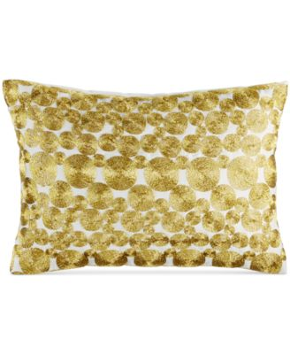 """INC International Concepts Prosecco Embroidered Circles 14"""" x 20"""" Decorative Pillow"""