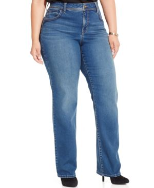 Style & Co. Plus Size Embroidered Straight-Leg Jeans
