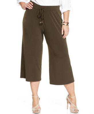 Calvin Klein Plus Size Gaucho Pants - Pants & Capris - Plus Sizes ...