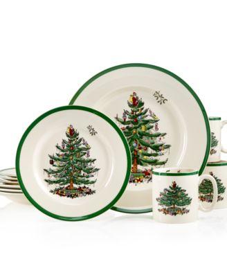Spode Christmas Tree 12-Pc. Dinnerware Set, Service for 4