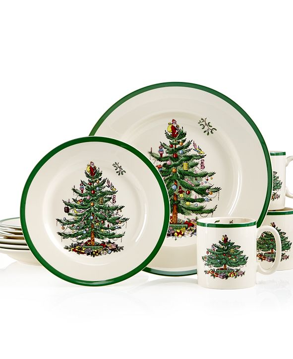 Spode CLOSEOUT! Christmas Tree 12-Pc. Dinnerware Set, Service for 4