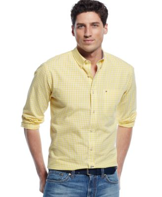 Yellow Button Down Shirt For Men | Is Shirt