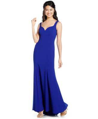 xscape strapless ruched cutout gown   dresses   women   macy s
