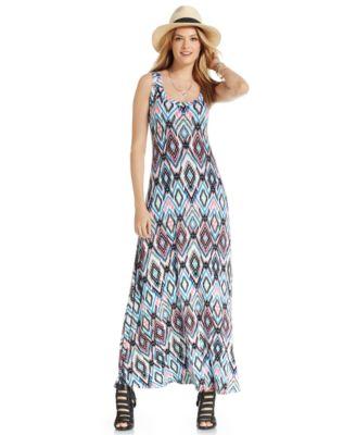 Karen Kane Printed High-Low Maxi Dress - Dresses - Women - Macy's